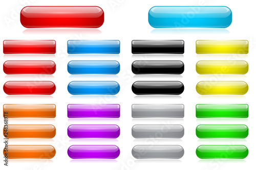 Colored 3d glass buttons © savanno