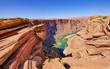 Leinwanddruck Bild - Horseshoe Bend, Colorado River bei Page