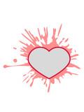 graffiti tropfen klecks farbe spritzer happy valentines day logo text liebe valentinstag feiertag schenken geschenk design herz verliebt paar pärchen