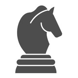 Horse chess solid icon. Chess game vector illustration isolated on white. Sport glyph style design, designed for web and app. Eps 10.