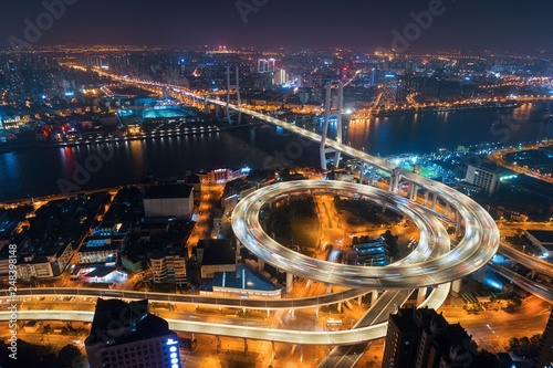Shanghai Nanpu Bridge over Huangpu River © rabbit75_fot
