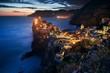 Leinwanddruck Bild - Vernazza at night in Cinque Terre