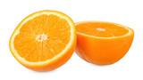 Slice orange isolated on white clipping path