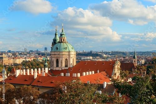 fototapeta na ścianę Prague skyline rooftop view dome