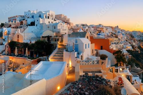 obraz lub plakat Santorini skyline sunrise