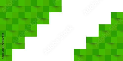 幾何学 模様 緑 背景  © J BOY