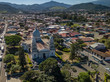Beautiful aerial view of the Desamparados Church in Costa Rica - 248408133