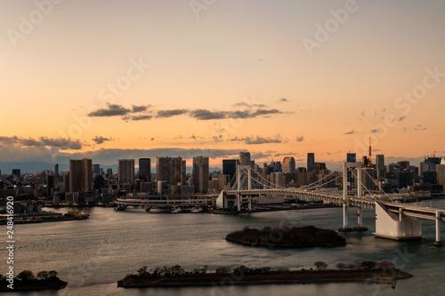 fototapeta na ścianę 東京の都市風景 東京湾の夕焼け11