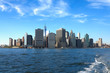 View on New York City  from Hudson river.USA