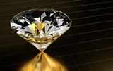 Diamond close-up in gold - 248432901