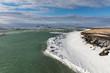 Eisschollen auf Fluss in Island