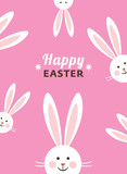 Bunny ears, Happy Easter card