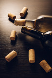 bottles of wine and corks - 248445913