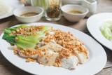Hainanese chicken rice in Thai..