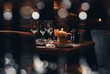 luxury tableware beautiful table setting in restaurant - 248452959