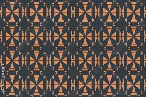 fototapeta na ścianę Seamless, abstract background pattern made with triangle shapes. Decorative, geometric vector art.