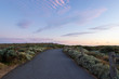Dusk view of an empty road pathway with cloudy sky at Great Ocean Road, VIC, Australia. - 248463311