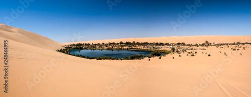 Leinwandbild Motiv Ubari oasi in the Sahara desert, Fezzan, Libya, Africa