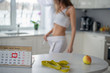 Lose weight by spring, the figure of a girl