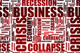 Red colored business crisis word cloud - 248478305