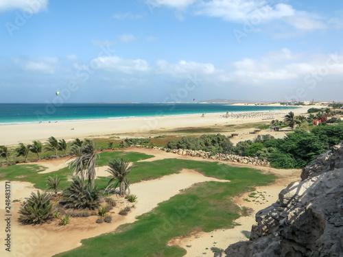 Leinwanddruck Bild Ausblick auf die Praia de Chaves, Boa Vista, Kapverden