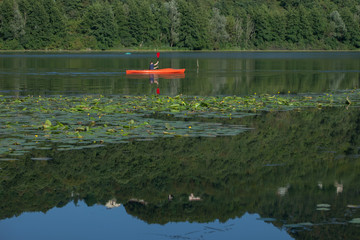 Canoe in Fimon lake