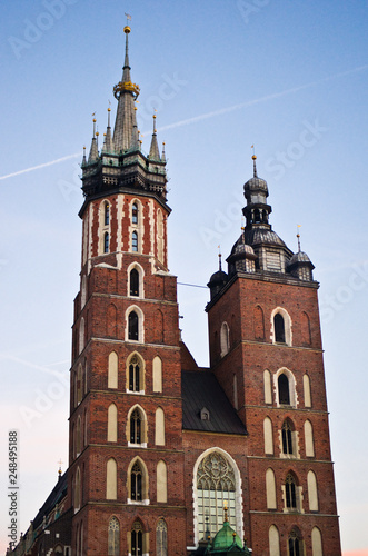 Cracow/Krakow, Poland, the Mariacki Church landmark