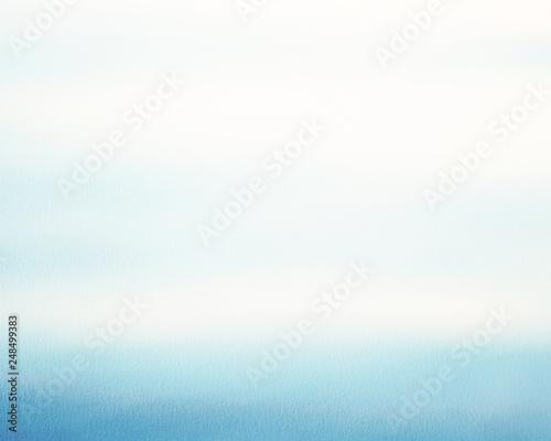 青 グラデーション背景 水彩
