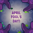 Conceptual hand writing showing April Fool S Is Day. Business photo showcasing fixed date that has occasion for playing tricks Starfish on Four Corners with Pebbles for Poster Ads Cards