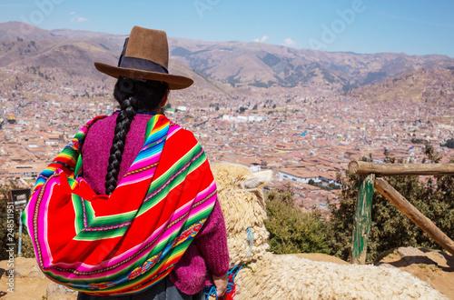 Leinwandbild Motiv Peruvian people