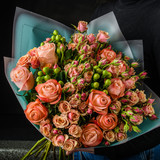 A bouquet of flowers for the holiday romantic gift to the girl