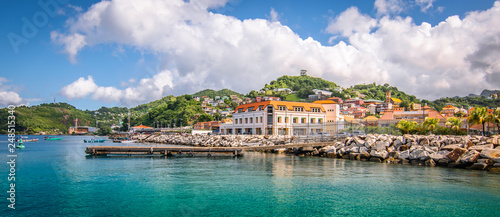 Leinwanddruck Bild Panoramic view of port of Grenada, Caribbean.