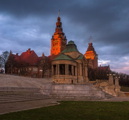 The historic and representative part of Szczecin in Poland against the evening sky © Mike Mareen