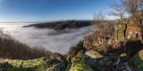 Allassac (Corrèze - France) - La Roche - Vallée de la Vézère dans le Brume - 248524311
