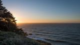 Sunset at Land's End in San Francisco on a clear mid-winter afternoon.