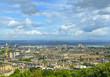 The New Town of Edinburgh in Scotland – panorama. Edinburgh is UNESCO World Heritage Site - 248534322