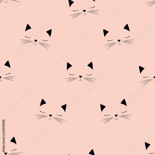 obraz PCV scandinavian cat pattern