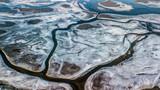 zamarznięta rzeka lód lodowiec
