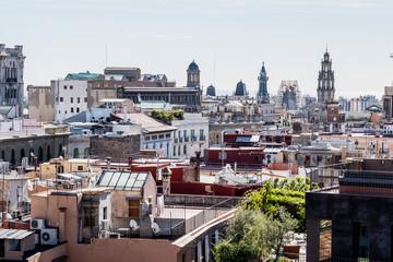Barcelone vue d'en haut, vue sur les toits de Barcelone