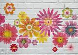 Street art. Fleurs multicolores - 248546733