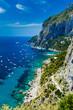 Quadro View from Giardini di Augusto of Capri, Italy