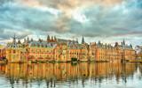 Binnenhof Palace at the Hofvijver lake in the Hague, the Netherlands - 248554788
