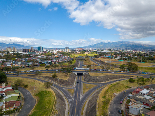 Beautiful aerial view of the city of San Jose Costa Rica  - 248571110