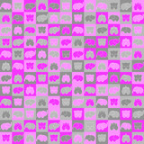gray and pink elephants on squares. vector seamless pattern. simple geometric shapes. textile paint. repetitive background. fabric swatch. wrapping paper. modern stylish texture