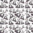 Panda on seamless pattern - 248576759