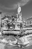 The famous fountain of Neptune on Piazza della Signoria in Florence, Italy