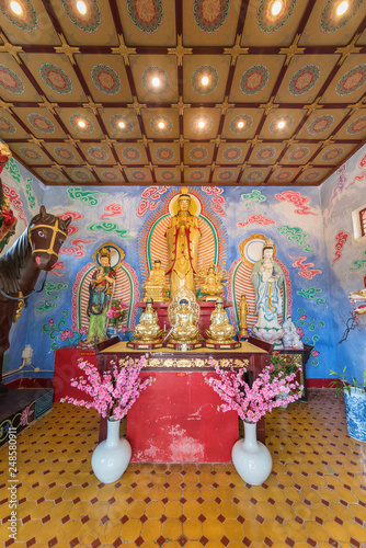 Altar of Ten Thousand Buddhas Monastery in Hong Kong, China © leeyiutung
