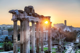 Rome at Sunrise. Roman Forum at morning in Rome, Italy - 248583577