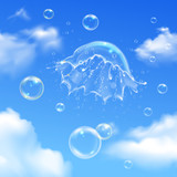 Bubbles Explosion On Sky Composition - 248584773