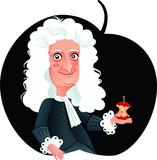 Isaac Newton Vector Caricature